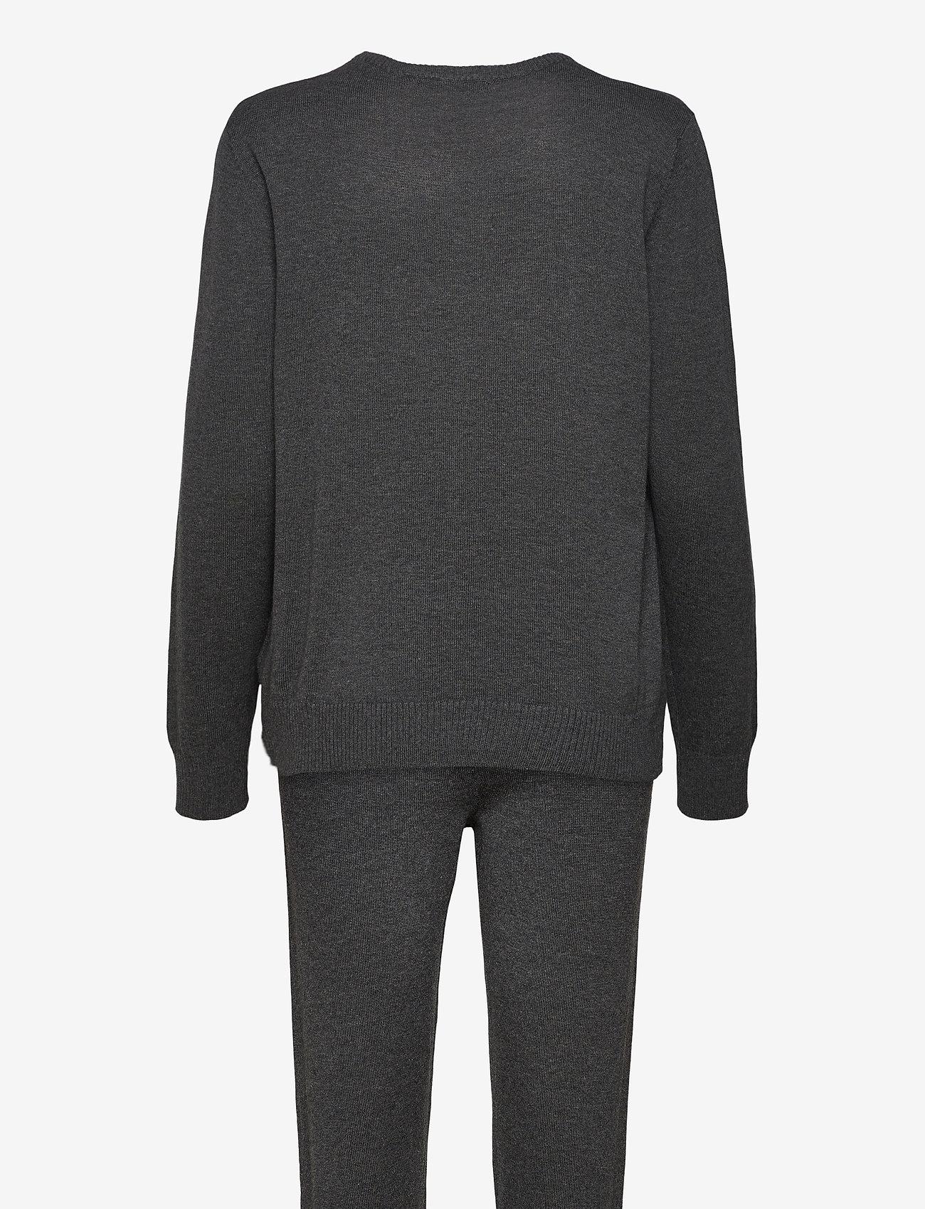Decoy - DECOY knit set loungewear - pyjama''s - mörkgrå me - 1