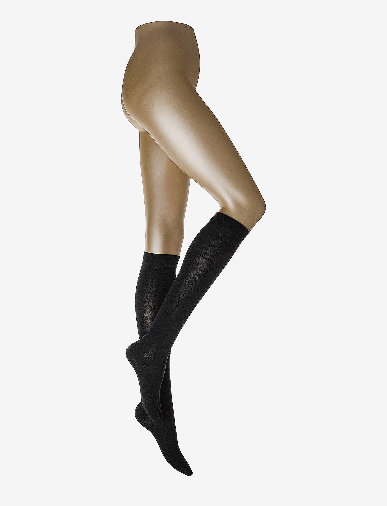 Decoy - Wool, Double Face kneehigh - kolanówki - black - 0