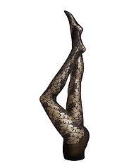 DECOY tights silver lace 25 de - SILVER-BLA