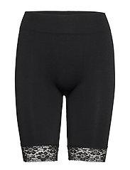 DECOY long shorts w/lace - BLACK