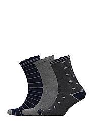 DECOY ankle sock cotton 3-pack - MULTI