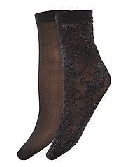 DECOY ankle sock w/lurex 2-pk - MøNSTER