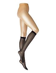 DECOY knee high glossy 2-pk 20 - SVART