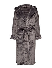 DECOY long robe w/hood - ASPHALT