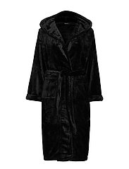 DECOY long robe w/hood - BLACK