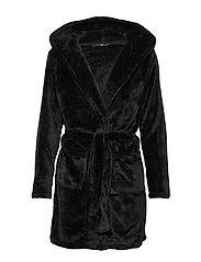DECOY short robe w/hood - BLACK
