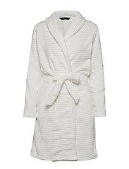 DECOY short robe w/stripes - CLOUD DANC