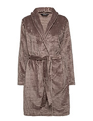 DECOY short robe w/stripes - DRIFTWOOD