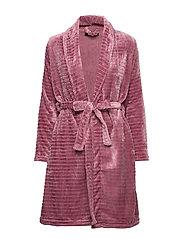 DECOY short robe w/stripes - GRAPE SHAK