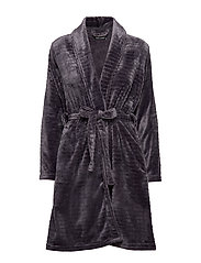 DECOY short robe w/stripes - LAVENDEL