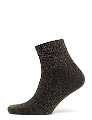 Ankle sock - lurex rib - BLACK