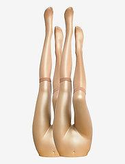 Decoy - DECOY knee high glossy 2-pk 20 - kniekousen - golden - 1