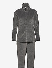 Decoy - DECOY velour homewear set - pyjama''s - grå - 0
