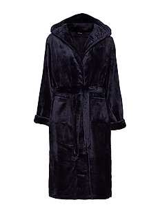 DECOY long robe w/hood - aamutakit - navy