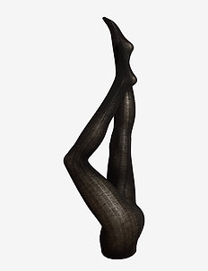 DECOY tights Merino rib 160 de - SORT