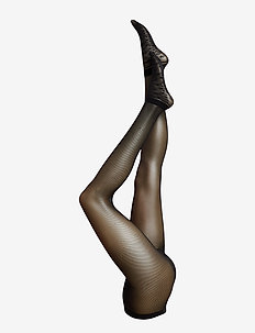 DECOY tights mesh 30 den - BLACK