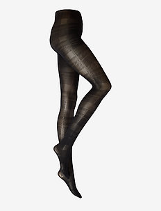 DECOY tights w/check 50 den - mønster - black