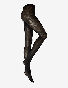 DECOY tights shiny zebra 70 de - mønster - black