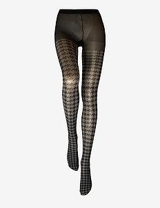 DECOY tights houndtooth 60 de - BLACK-GREY