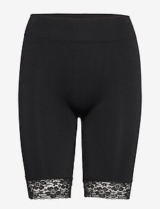 DECOY long shorts w/lace - BLACK