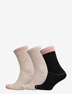 DECOY ankle sock cotton 3-pack - MULTICOLOU