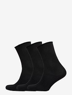 DECOY ankle sock bamboo 3-pack - BLACK