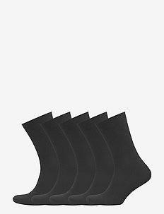 DECOY ankle sock cotton 5-pk - sockor - black