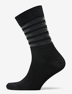 DECOY ankle sock transp stripe - normalne skarpetki - svart