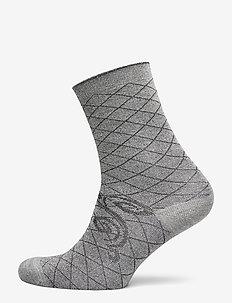 DECOY ankle sock glitter - socks - grey