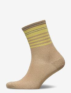 DECOY ankle sock glitter - normalne skarpetki - golden