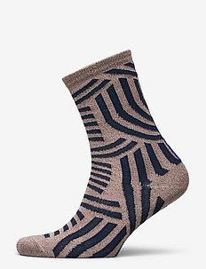 DECOY ankle sock glitter - normalne skarpetki - rose