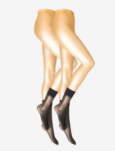 DECOY kneehigh soft lux 2pk 15 - socks - black