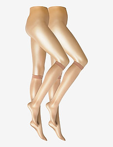 DECOY knee high glossy 2-pk 20 - kniekousen - golden