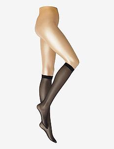 DECOY knee high glossy 2-pk 20 - kniekousen - svart