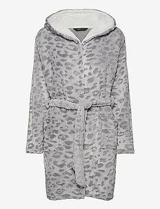 DECOY robe w/hood - badjassen - leopard pr
