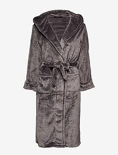 DECOY long robe w/hood - pegnoirs - asphalt