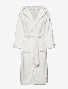 DECOY long robe w/hood - bathrobes - creame
