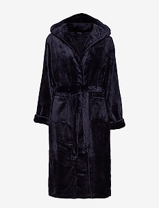 DECOY long robe w/hood - bathrobes - navy
