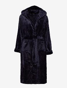 DECOY long robe w/hood - pegnoirs - navy