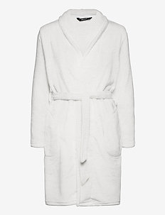 DECOY short robe w/pockets - pegnoirs - offwhite