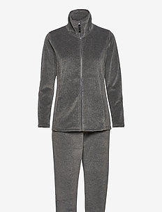 DECOY velour homewear set - pyjama''s - grå