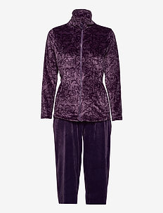 DECOY velour homewear set - piżamy - mulled gra