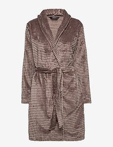 DECOY short robe w/stripes - bathrobes - driftwood