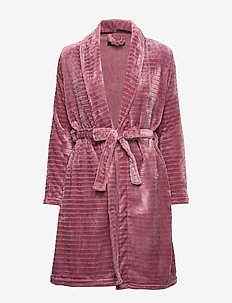 DECOY short robe w/stripes - GRAPE SHAK