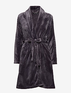 DECOY short robe w/stripes - LAVENDEL