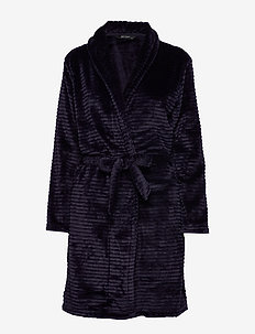 DECOY short robe w/stripes - NIGHT SKY