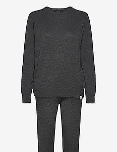 DECOY knit set loungewear - pyjama''s - mörkgrå me