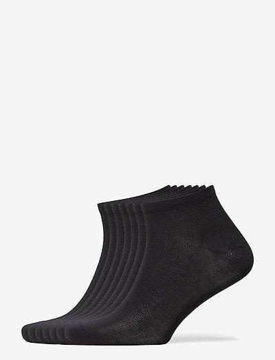DECOY sneaker org. cotton 7-pk - chaussette de cheville - svart