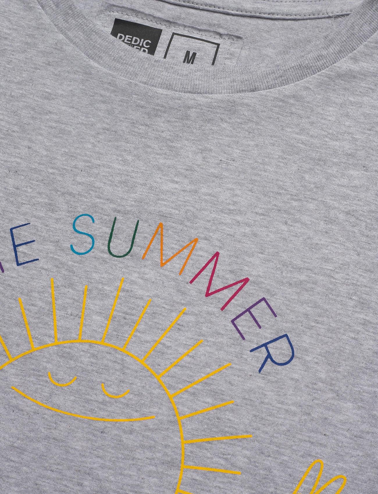 DEDICATED T-shirt Stockholm Summer Must Go On - T-skjorter GREY MELANGE - Menn Klær