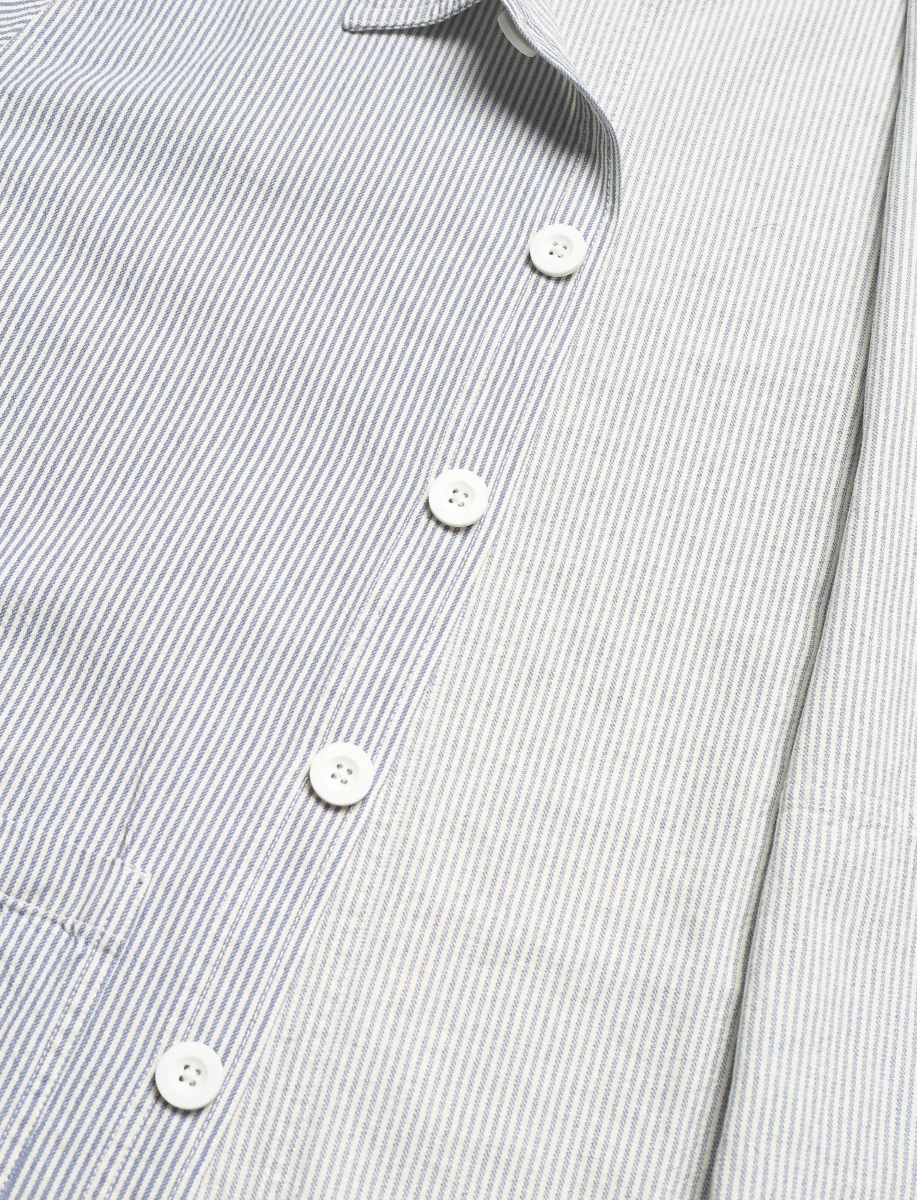 DEDICATED - Worker Jacket Sala Thin Stripes - chemises à carreaux - blue - 4